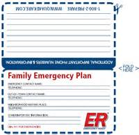 emergency contact card template wallets family emergency plan