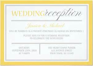post wedding reception invitation exles 21 beautiful at home wedding reception invitations bridalpulse