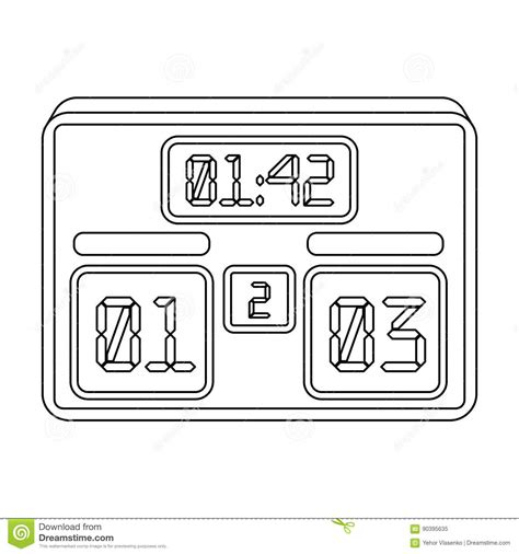 football scoreboard coloring page football scoreboard cartoons illustrations vector stock