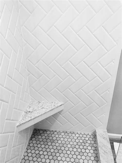 White Floor L White Beveled Subway Tile Herringbone Pattern Marble Hexagon Zyouhoukan