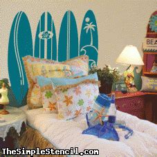 Surfboard Headboard by Surfboard Headboard Simplestencil Wall Decals Easy
