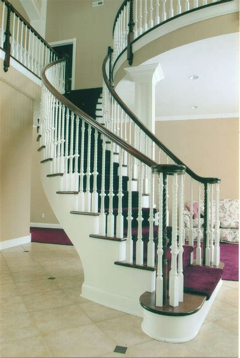 Custom Made Contemporary Curved Stair by Timber Arts