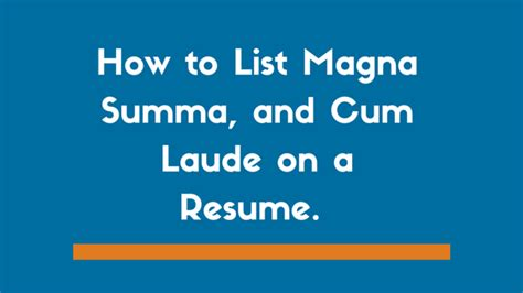 Is There Magna Laude For Mba by Resume Summa Laude Resume Ideas