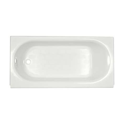 porcelain steel bathtub shop american standard princeton 60 in white porcelain enameled steel alcove bathtub