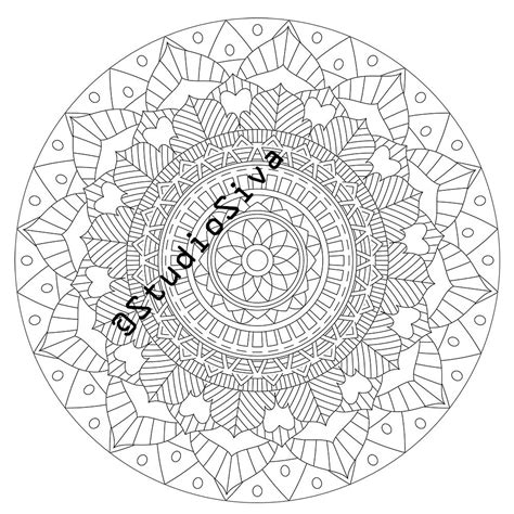 intricate coloring pages pdf intricate tribal mandala coloring page instant download pdf
