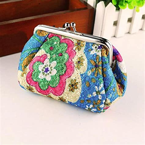 Flower Mini Clutch wallet toraway womens vintage flower mini wallet coin