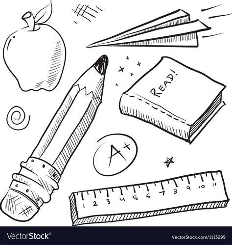 doodle school login doodle school book pencil paper apple learn vector image