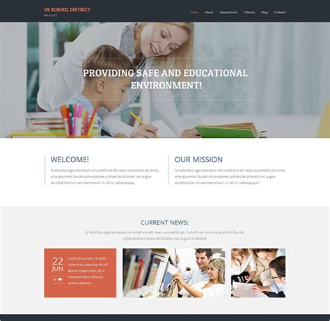 bootstrap templates for school website 22 education bootstrap themes templates free