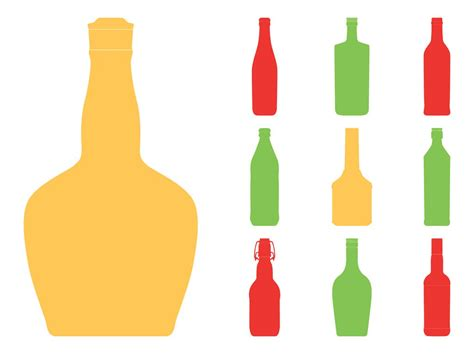 wine bottle svg bottle silhouettes set vector art graphics freevector com