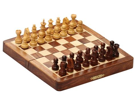 buy chess set wholesale 7x7 inch wooden folding chess set bulk buy