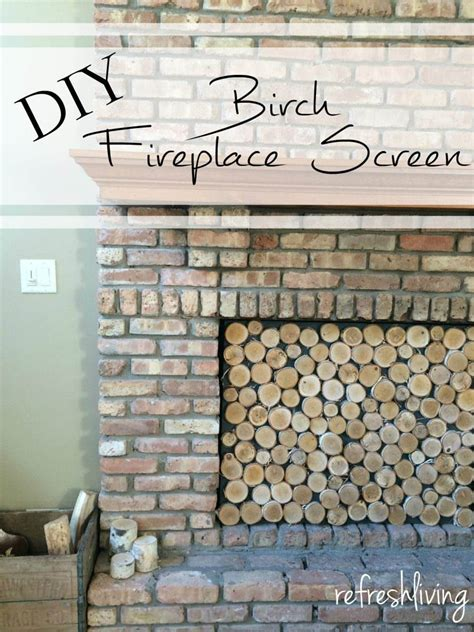 birch log fireplace screen refresh living