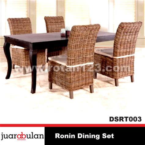 Meja Makan Anyaman harga jual ronin dining set meja makan rotan alami model