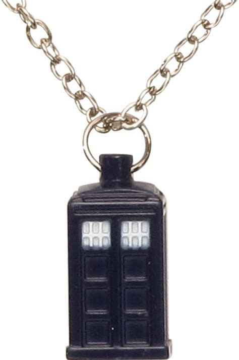 doctor who blue tardis charm necklace