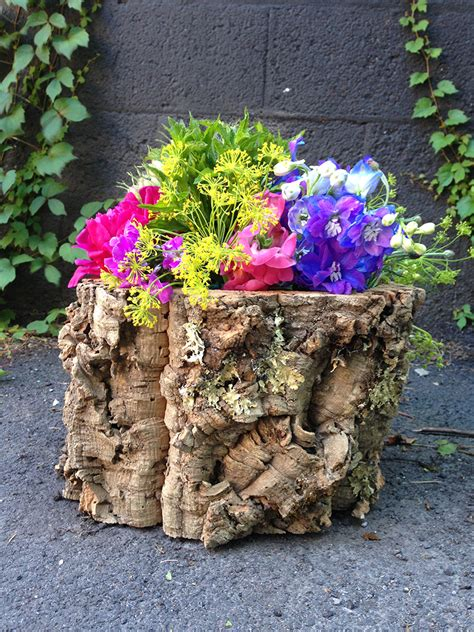 tree trunk centerpieces by stacy k floral