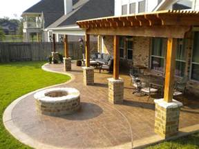patio ideas with pit sted concrete patio future home ideas