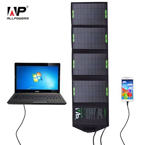 outdoor solar battery charger allpowers 5v 18v 14w outdoor foldable solar panel