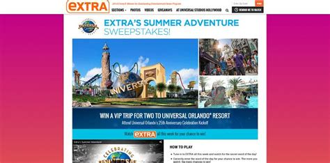 Extratv Giveaway - extratv com summeradventure extra s summer adventure sweepstakes word of the day