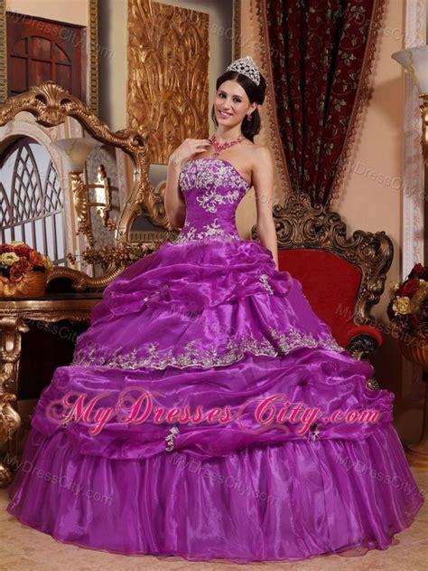 Mixco Dress organza purple corset ups pretty dress for quince