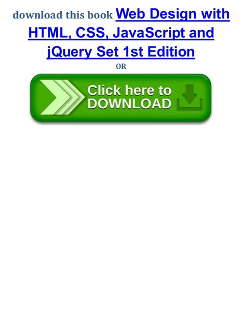 web design html css javascript pdf web design with html css java script and jquery set 1st
