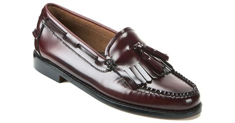 gh bass loafers uk g h bass co s kiltie leather moc tassle loafers