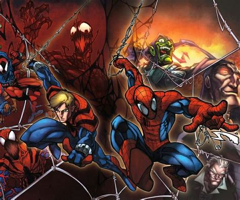 spiderman and his tattooed clone his clone ben reilly as and scarlet