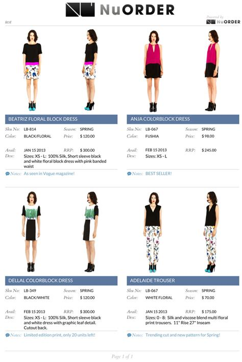 Fashion Line Sheet Template by The Stylehq Guide To Fashion Week Designers Page 2 Of