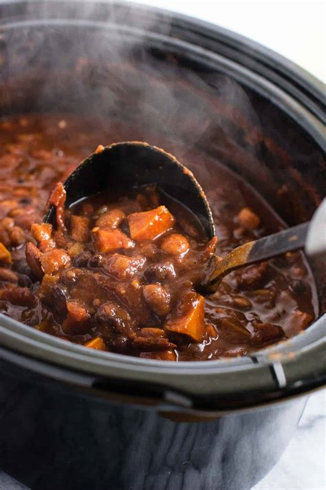 vegetarian chili cooker recipe cooker vegetarian sweet potato chili recipe 10