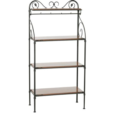 Wrought Iron Bakers Rack by Leaf Bakers Rack
