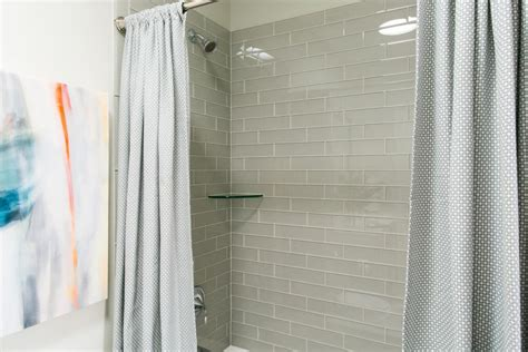 open shower curtain pictures of the hgtv smart home 2016 hall bathroom hgtv