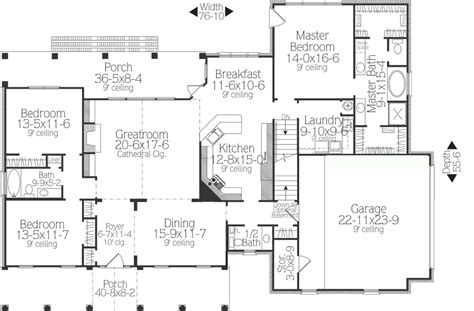 split bedroom floor plan ideal  house