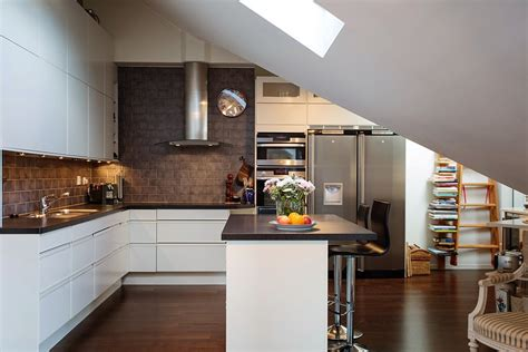 and timeless kitchen design in chocolate and white
