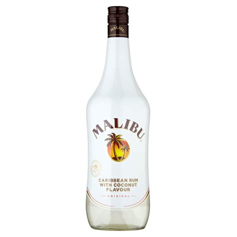 price of a bottle of malibu malibu original caribbean rum with coconut flavour 1l