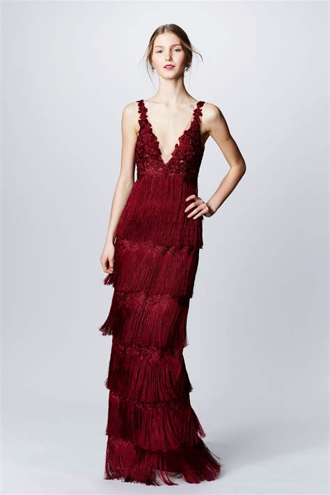marchesa notte fall  ready  wear collection vogue