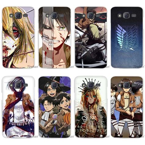 samsung j2 anime themes hot sale attack on titan anime clear case cover coque