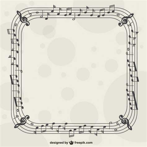 imagenes de motivos musicales marco con notas musicales descargar vectores gratis