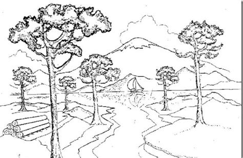 imagenes para colorear de paisajes imagenes de paisajes naturales para colorear arboles