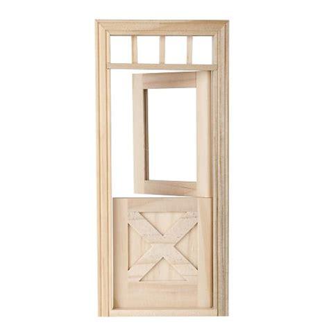 Crossbuck Exterior Door Door Crossbuck Dollhouse Miniature Wooden 6009 1