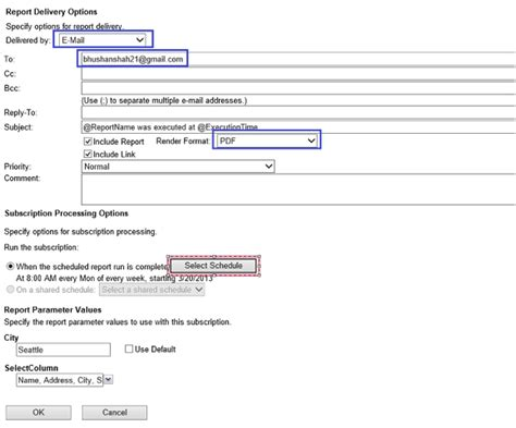 format email sql email subscriptions for ssrs reports