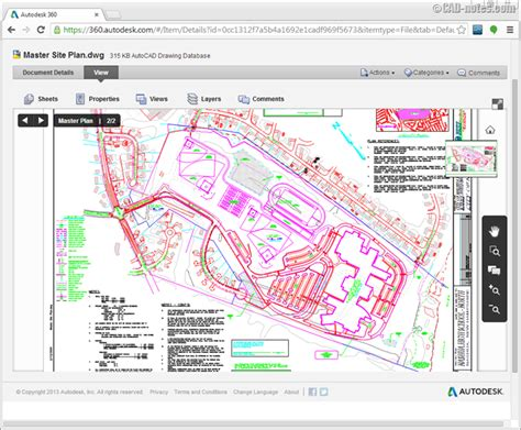 Auto Cad File Files And Designs With Autodesk 360 Cadnotes