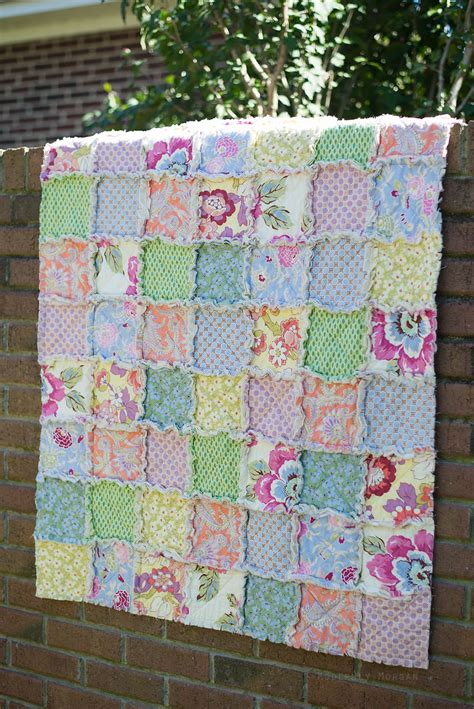 A Quilt For The Time by Rustic Rag Quilt Tutorial Modernly