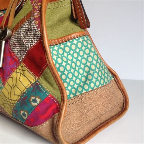 Fossil Patchwork Bag - 78 fossil handbags fossil large multicolor
