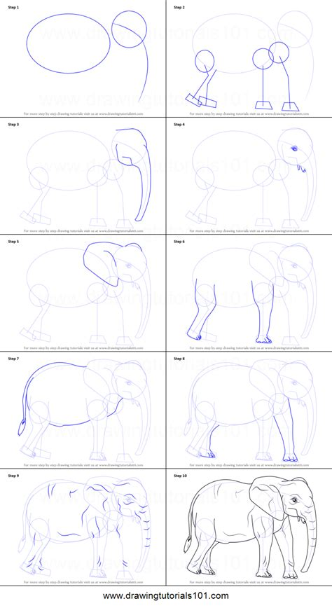 how to draw doodle step by step drawing elephant step by step drawing ideas