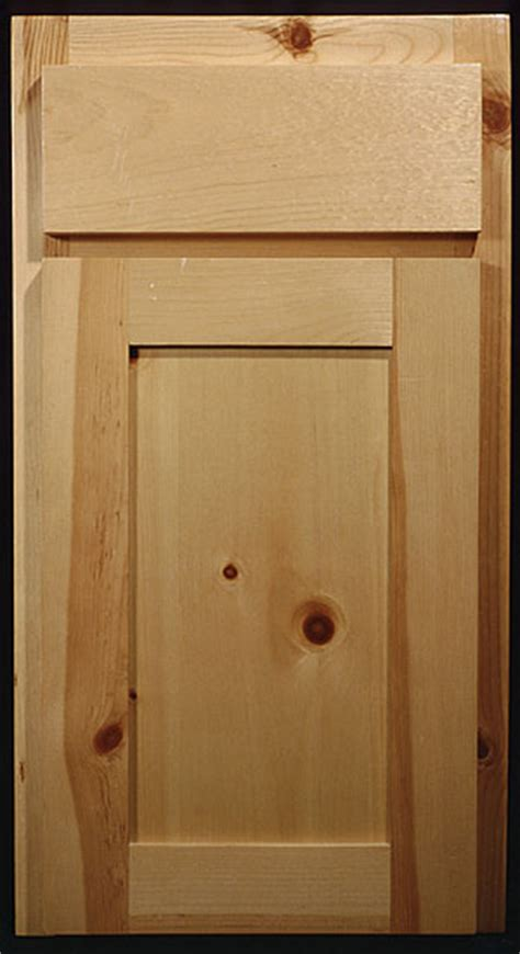 Pine Cabinet Door Knotty Pine Shaker Style Cabinets For The Home