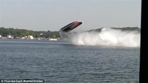 cigarette boat crash lake of the ozarks speedboat flips during high speed race but everyone