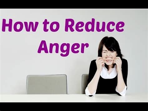how to reduce anger