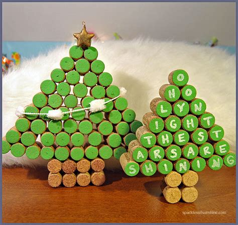 cork christmas tree wine cork trees sparkles of