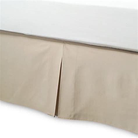 bed bath and beyond bed skirts buy smoothweave 14 inch tailored queen bed skirt in mocha