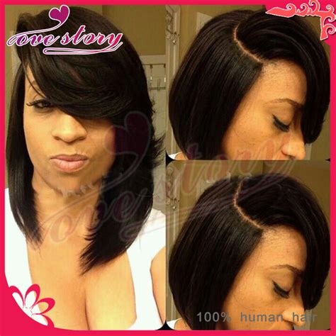 layered bob with bangs african american african american layered bob wigs images