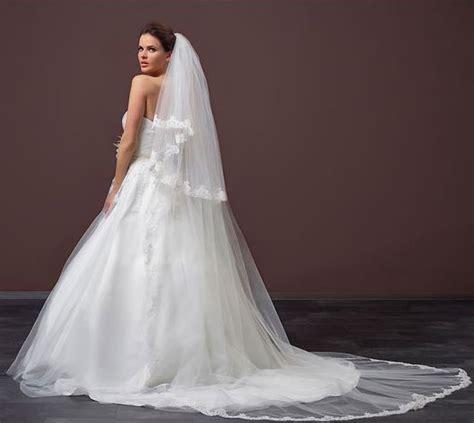 Lace Wedding Veil lace wedding veil s100 2 zaphira bridal