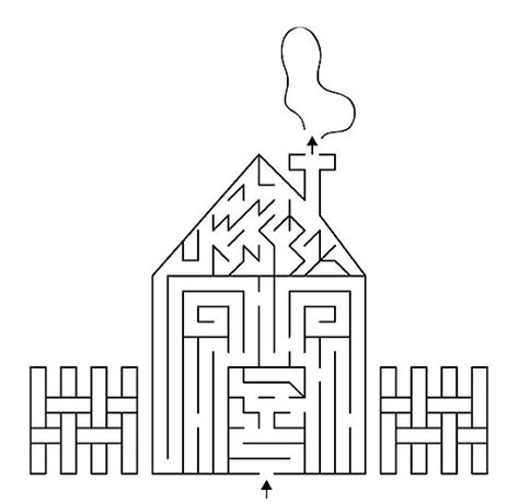 maze house house maze fun kid printables pinterest maze house and puzzles